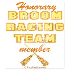 Broom Racing Orange Framed Print