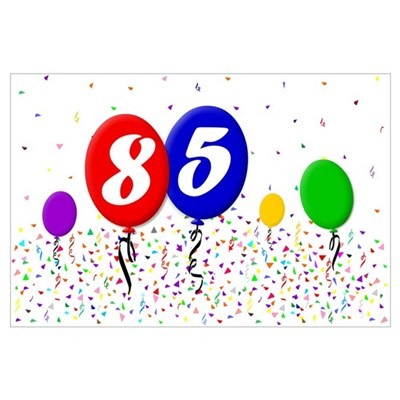 85th Birthday Poster
