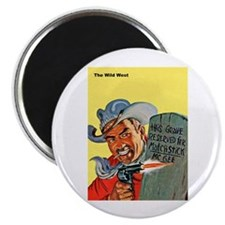 Wild West Matchstick McGee Outlaw Magnet