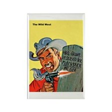 Wild West Matchstick McGee Outlaw Rectangle Magnet