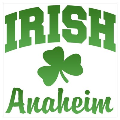 Anaheim Irish Canvas Art