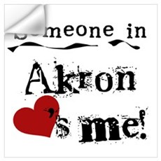 Akron Loves Me Wall Decal