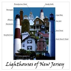 Lighthouses of New Jersey Poster