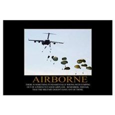 Airborne Motivational Framed Print