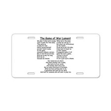 The Game of War Lament Aluminum License Plate