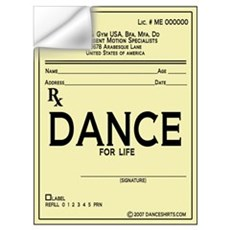 Prescription Dance Antique Wall Decal
