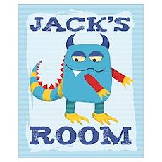 Jack's ROOM Mallow Monster Poster