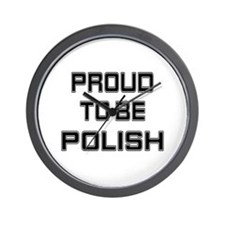 Proud to be Polish Wall Clock