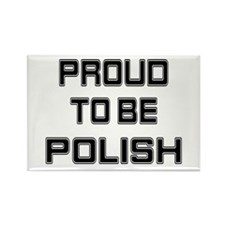 Proud to be Polish Rectangle Magnet