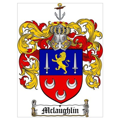 McLaughlin Family Crest Canvas Art