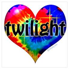 Twilight Tie-Dye Heart Poster