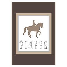 Piaffe Rider in Brown/Tan Poster
