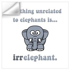 Irrelephant Wall Decal