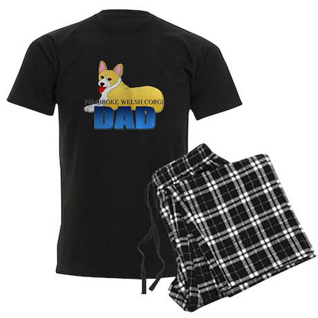 Pembroke Welsh Corgi Dad Men's Dark Pajamas