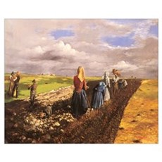 The Potato Harvest Poster