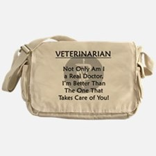 Veterinarian A Real Doctor Messenger Bag