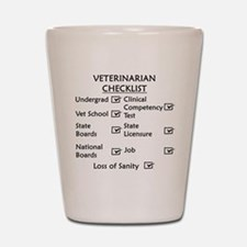 Veterinarian Checklist Shot Glass