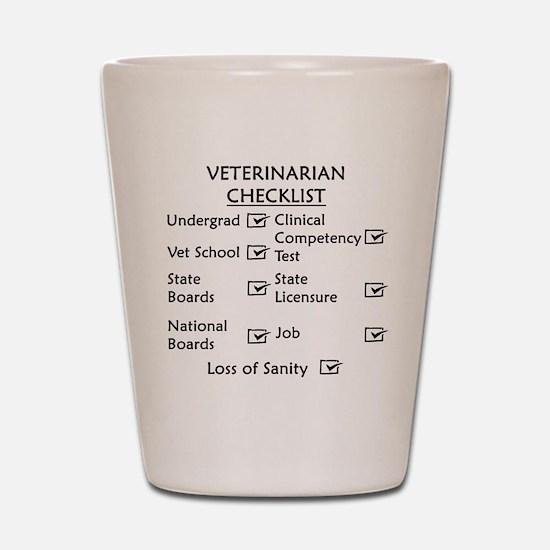 Veterinarian Checklist Shot Glass