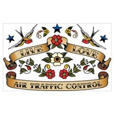 Live Love Air Traffic Control Poster