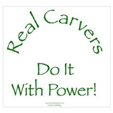 Carvers Do It With Power Canvas Art