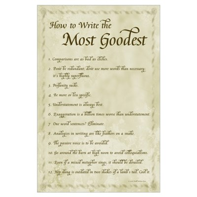 How to Write Most Goodest 11x17, Calligraphy Poster