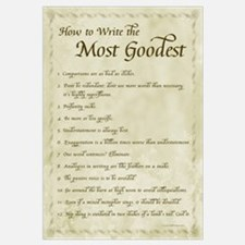 How to Write Most Goodest 11x17, Calligraphy