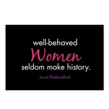 Unique Well behaved women rarely make history Postcards (Package of 8)
