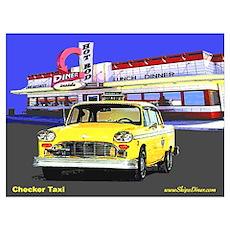 Checker Taxi Poster
