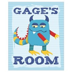 Gage's ROOM Mallow Monster Poster