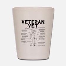 Veteran Vet Female Shot Glass