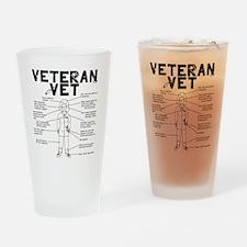 Veteran Vet Female Drinking Glass