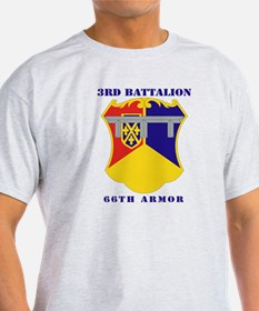 DUI - 3rd Battalion, 66th Armor with Text T-Shirt