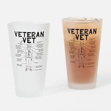 Veteran Vet Male Drinking Glass