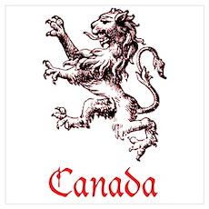 Canada Heraldic Lion Poster