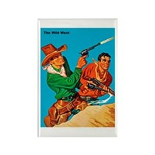 Wild West Shooting Cowboys Rectangle Magnet