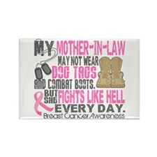 Dog Tags Breast Cancer Rectangle Magnet