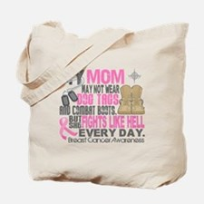 Dog Tags Breast Cancer Tote Bag