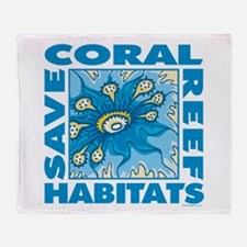 Save Coral Reefs Throw Blanket