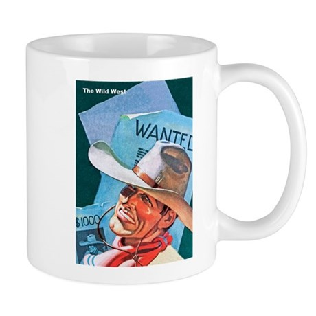 Wild West Wanted Outlaw Bandit Mug