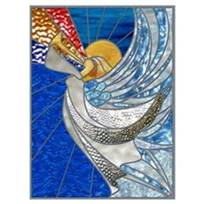 Angel With Trumpet Canvas Art