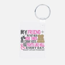 Dog Tags Breast Cancer Keychains