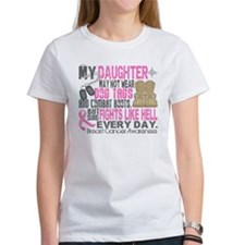 Dog Tags Breast Cancer Tee