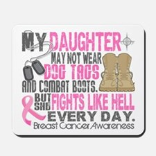 Dog Tags Breast Cancer Mousepad