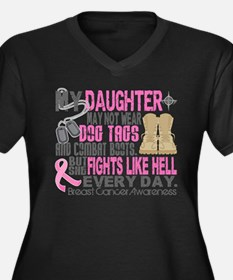 Dog Tags Breast Cancer Women's Plus Size V-Neck Da