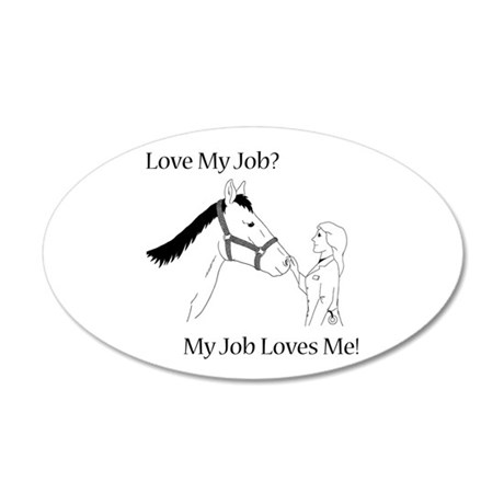 Equine Veterinarian (female) 38.5 x 24.5 Oval Wall