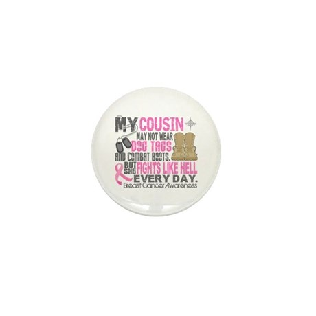 Dog Tags Breast Cancer Mini Button (100 pack)