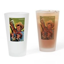 Wild West Outlaw Bandit Escape Drinking Glass