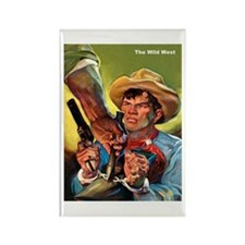 Wild West Outlaw Bandit Escape Rectangle Magnet (1
