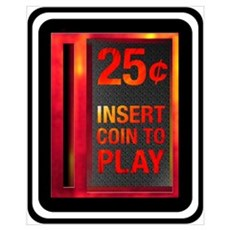 INSERT COIN TO PLAY Framed Print