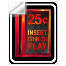 INSERT COIN TO PLAY Wall Decal